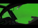 Helicopter cocpits green screen animation ah64 Longbow by razor6031