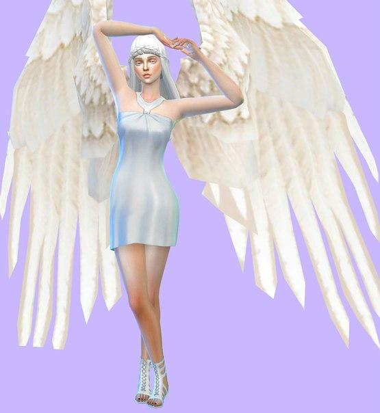 персонаж симс 4 - ангел девушка