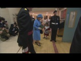 Little girl accidentally hit in the face by soldier after meeting the Queen