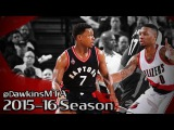 Kyle Lowry vs Damian Lillard PG Duel 2016.02.04 - 57 Pts, 19 Assists Combined!
