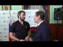 Олимпийский комитет России наградил хоккеиста Александра Овечкина почетным знаком - Первый канал