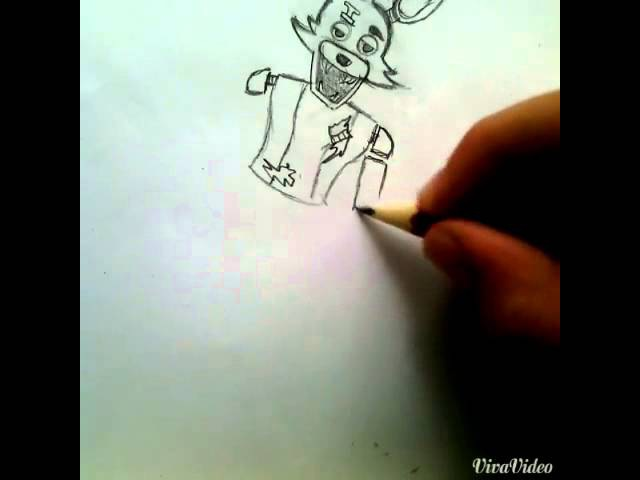 Рисую Фокси из ФНАФ.
