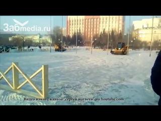 Дрифт погрузчиков на пл Ленина в Чите