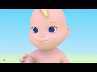 Учим части тела. Учимся с Масиком лицо. Развивающий мультфильм от 12 до 36 месяцев