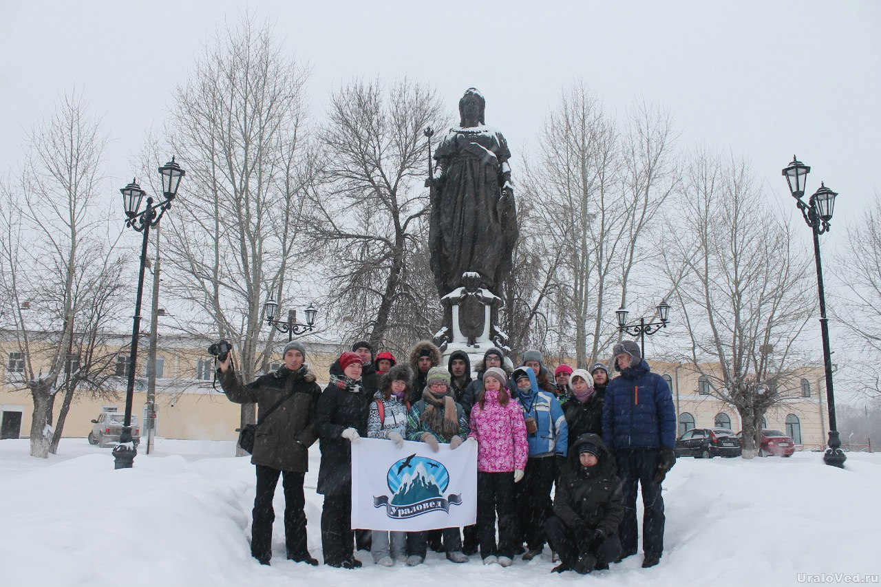 Памятник Екатерине II в Ирбите