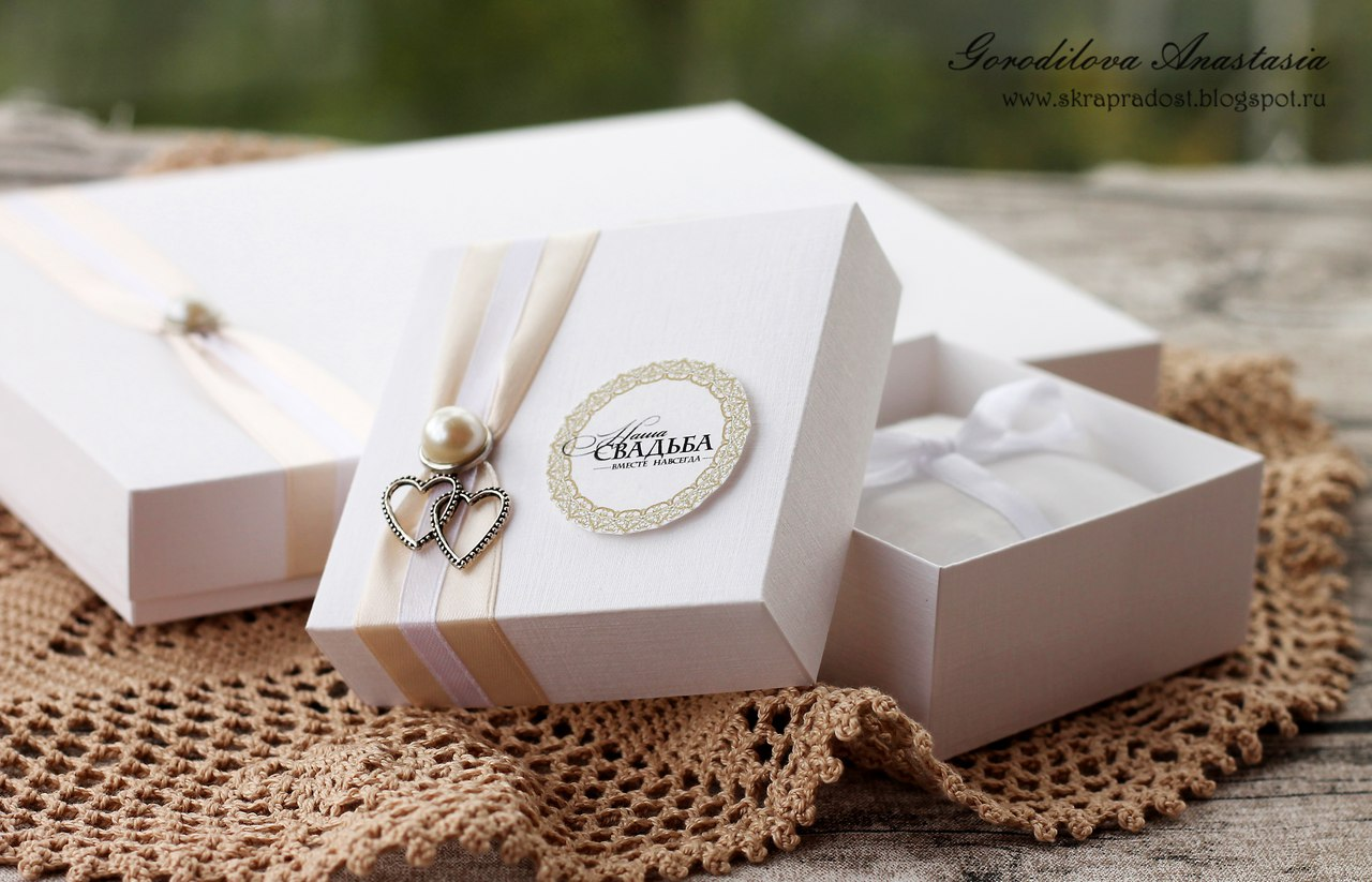 Свадебная коробочка для флешки
