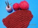 Вязание крючком Как связать шарф бактус МК