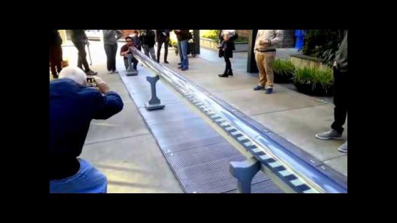 Масштабная модель поезда Гиперпетли (Демо) - Вариант Университета Berkeley