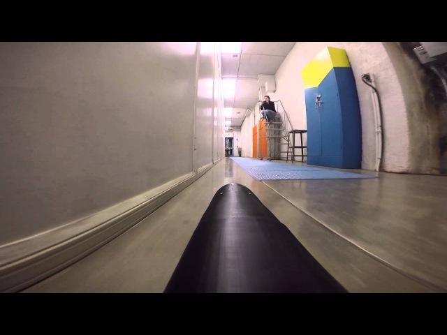 Масштабная модель поезда Гиперпетли, свободное движение (Демо) - Вариант Университета Berkeley