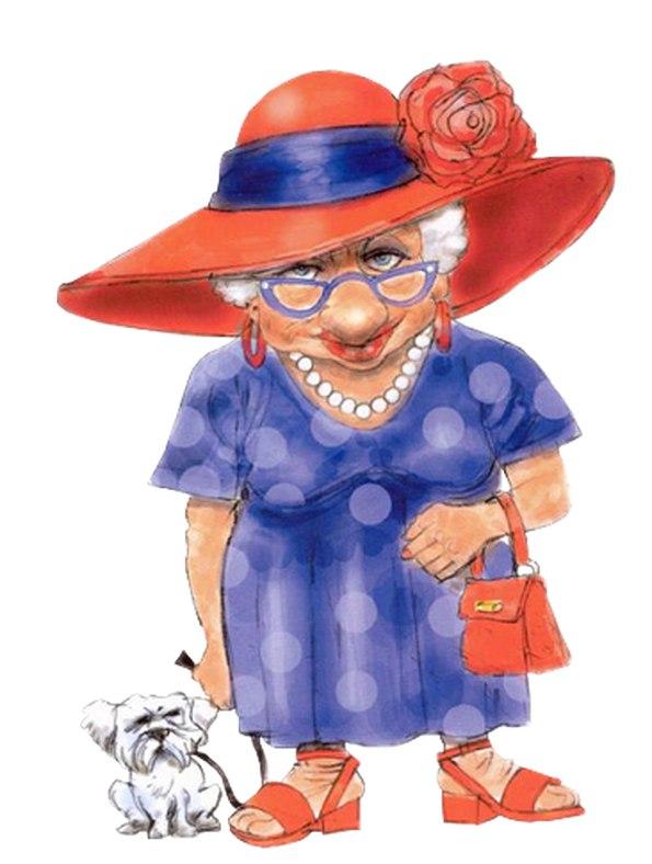Картинка бабушка прикольная