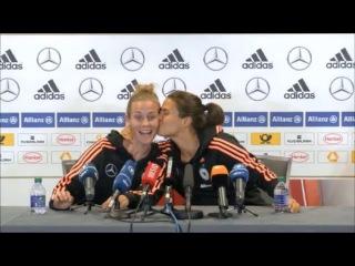 FIFA Womens World Cup Canada 2015:Germany National Football Team: Laudehr ,  Marozsanインタビュー