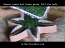 How to make fused and slumped recycled glass - alocasia lamp