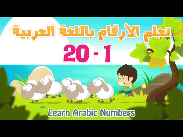 Arabic Numbers | Learn Numbers in Arabic for kids 1-20 | تعلم الأرقام العربية للأطفال ١ - ٢