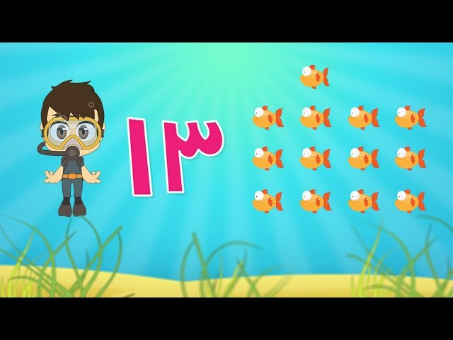 Learn Arabic Numbers for kids 10 -20 / تعلم الأرقام للأطفال باللغة العربي