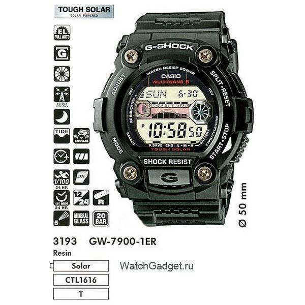 инструкция к часам g-shock protrek