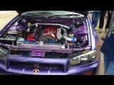 Nissan Skyline GT-T R34 RB26DETT PURE ENGINE SOUND   Ниссан, Скайлайн, автомобиль, машина, тачка, спорткар