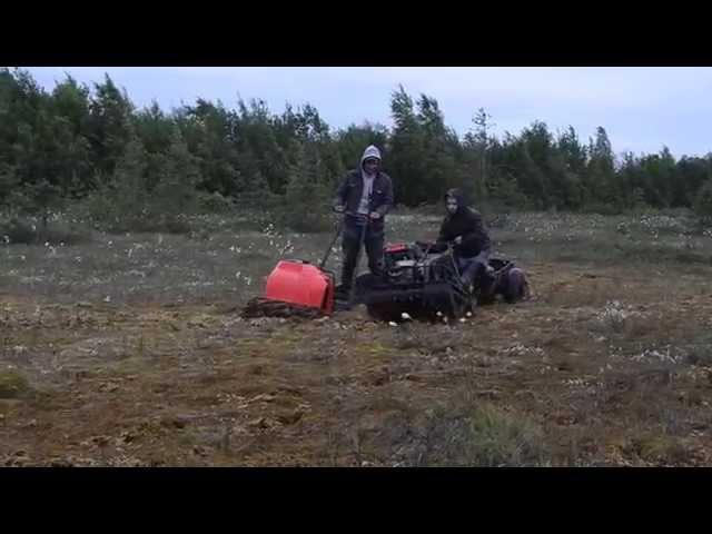 Мотобуксировщик, по болоту. KOiRA Всесезонный против зимнего.