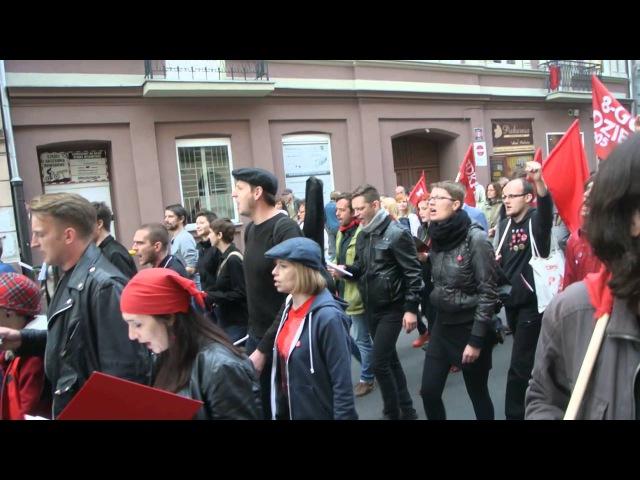 Gdy naród do boju demonstracja w rocznicę Rewolucji 1905 roku Łódź 20 06 2015