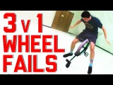 Unicycles vs. Tricycles || 3v1 Wheel Fails Compilation