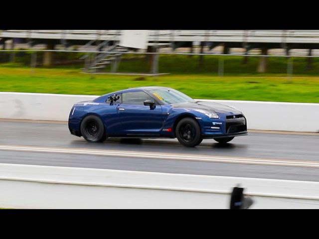 AMS Alpha 20 Nissan GT-R @ TX2K15 runs 8.4 @ 180 MPH Drag Racing 1/4 Mile