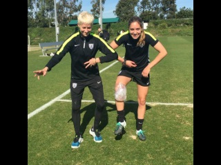 """U.S. Soccer WNT on Instagram: """"Heyyyy y'allllll! It's Moe. What better way to start my Instagram takeover than a good ole GUMBY post. Training is over, we are coming for…"""""""