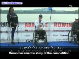 Israeli rower won gold -- and sang