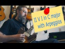 How to start soloing over a II V I with arpeggios