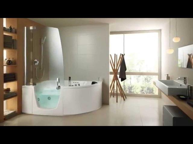 Комбинированные (ванны со шторкой) итальянские гидромассажные ванны Teuco (www.santehimport.com)