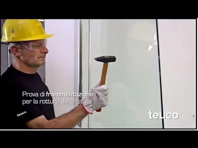 Тест (проверка) калённого стекла кабин и комбинированных ванн Teuco (www.santehimport.com)
