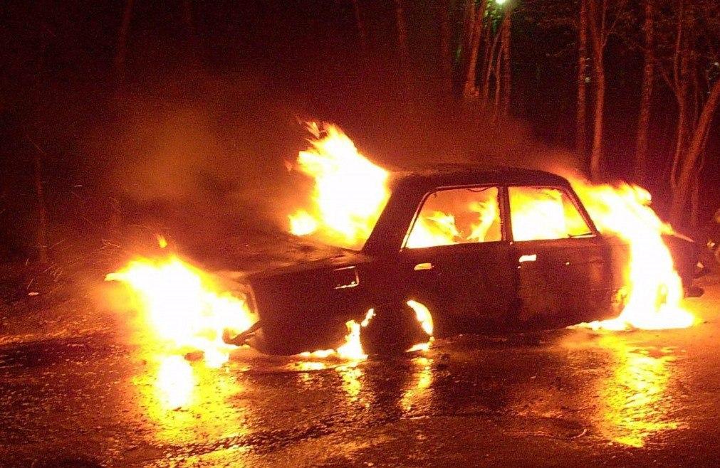 На выходных в Таганроге сгорела «шестерка»