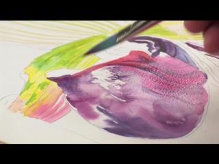 Рисуем орхидеи в акварельной технике вместе с Joyce Faulknor and Guy Magallanes