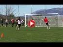 ¡Paradón ¡Paradón y ¡GOLAZO ¡Vaya ritmo en el entreno de la Selección en Montenegro