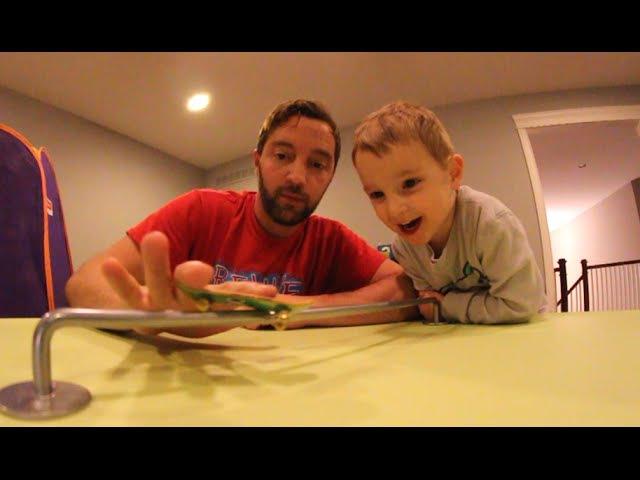 Dad Son Fingerboarding!