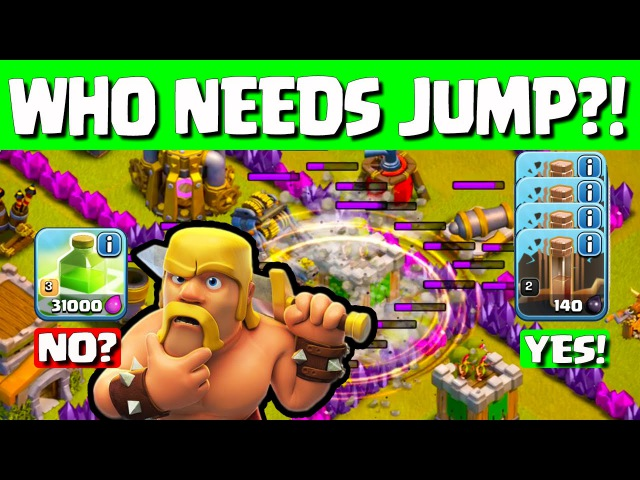 Clash of Clans ♦ Town Hall 8 JUMP Spell? Who Needs It?! ♦ CoC ♦