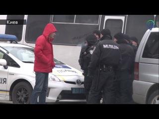 Офис Рината Ахметова забросали камнями