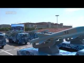 На плацу - колонна противокорабельных ракет