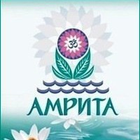 Логотип АМРИТА сеть магазинов аюрведы