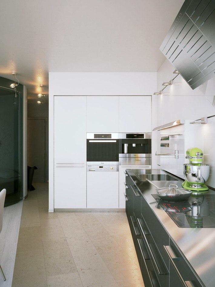 Проект небольшой квартиры-студии без точного метража.