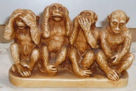 фигурки обезьянок ничего не вижу ничего не слышу купить