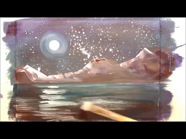 Картина за 4 минуты: Луна. Ночь. Горы