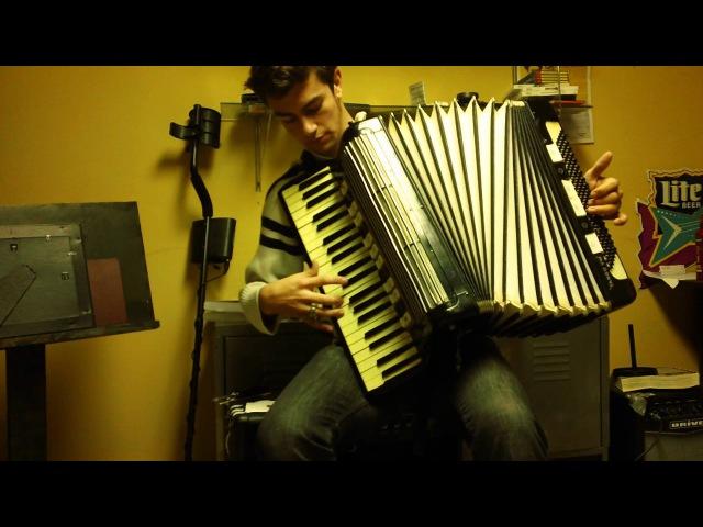 Амурские Волны/The Amur Waves Russian War song on accordion waltz