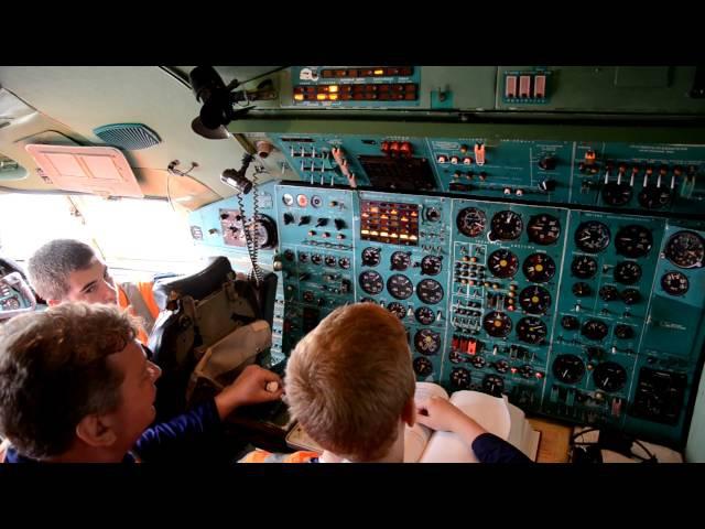 Подготовка, запуск ВСУ и двигателей Ту-154Б-1