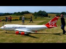 BOEING 747-400 VIRGIN ATLANTIC GIGANTIC RC AIRLINER MODEL JET FLIGHT / Airliner Meeting Airshow 2015