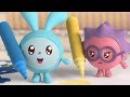 Малышарики 3 серия - Фломастеры - обучающие мультфильмы для малышей 0-4