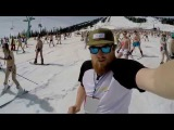 Рекорд Гиннеса 2015 в Шерегеше / Guinnes World Record The largest swimwear parade on skis