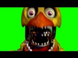 Five Nights at Freddys 2 Chica JumpScare [GREEN SCREEN]