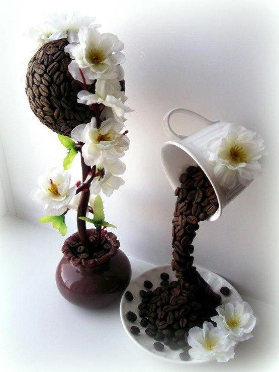 Кофейный цветок своими руками фото