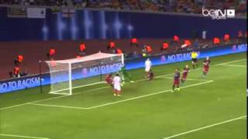 Dani Alves to the rescue for FC Barcelona. SuperCup vs sevila 2016