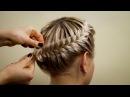 Прическа из косичек Корзинка . Hairstyle of braids