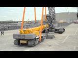 Liebherr - LR 1600/2 crawler crane using the LTR 1220 as counterweight